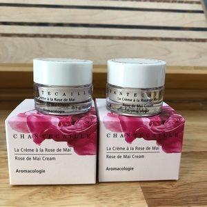 2x Chantecaille Rose de Mai Cream 5mL Sample Jars